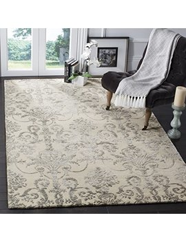 Safavieh Bella Collection Bel917 A Ivory And Grey Premium Wool & Viscose Area Rug (4' X 6') by Safavieh