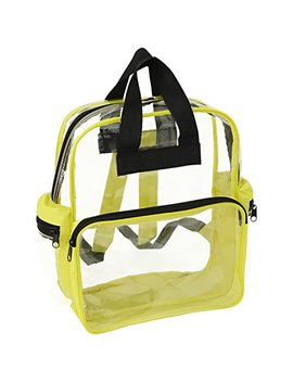 Nu Fazes Clear Backpack In Multiple Colors (Yellow) by Nu Fazes