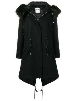 Crystal Embellished Bear Parka by Moschino