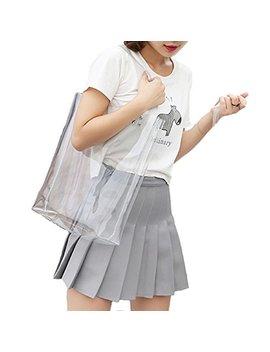 Smilecoco Womens Multifunction Clear Shoulder Tote Bag Handbag by Smilecoco