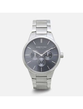 Silver Calendar Watch   Stainless Steel by Kenneth Cole New York