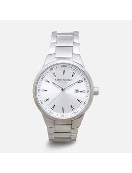 All Silver Stainless Steel Link Band Watch by Kenneth Cole New York