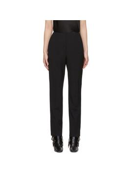 Black Washable Lean Trousers by Alexanderwang.T