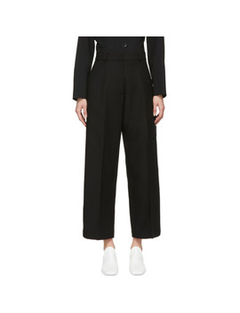 Black Tailored Utility Trousers by Studio Nicholson