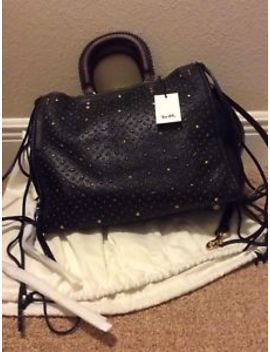 Rare Nwt Coach 1941 Whiplash Rivets Rogue Bag 36 In Pebble Leather 54575 Black&Nbsp; by Coach