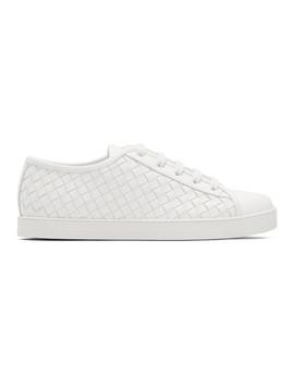 White Intrecciato Runner Sneakers by Bottega Veneta