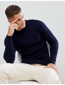 Jack & Jones Premium Cable Knit In 100 Percents Cotton by Jack & Jones