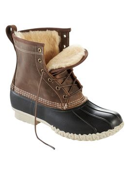 "Men's L.L.Bean Boot, 8"" Shearling Lined by L.L.Bean"