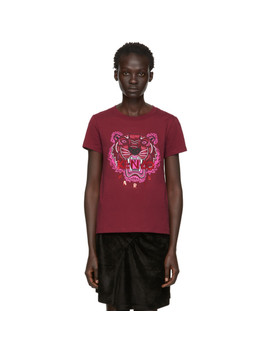 Red Limited Edition Holiday Tiger T Shirt by Kenzo