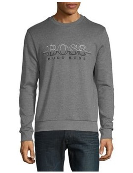 Embroidered Logo Sweatshirt by Boss