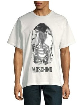 Bondage Mask Cotton Tee by Moschino
