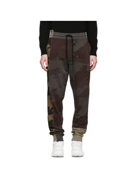 Multicolor Camo Reconstructed Lounge Pants by Off White