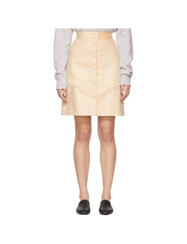 Tan Fustian Skirt by Bottega Veneta