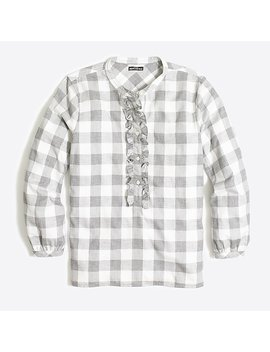 Petite Ruffle Flannel Shirt by J.Crew