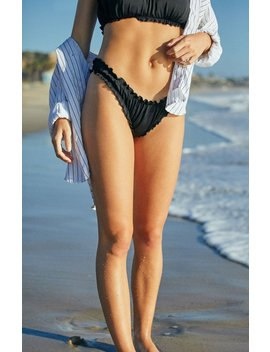 La Hearts Black Scrunchy Bikini Bottom by Pacsun