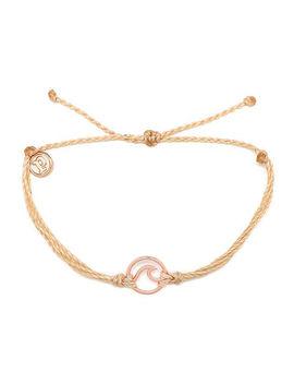 Pura Vida Wave Rose Gold Bracelet by Pura Vida