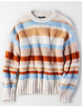 Ae Multi Stripe Pullover Sweater by American Eagle Outfitters