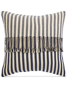 "Stripe 20"" Square Decorative Pillow, Created For Macy's by Oxford Collection"