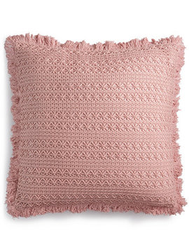 "Sakai Handcrafted Embroidered 22"" Square Decorative Pillow, Created For Macy's by Lacourte"