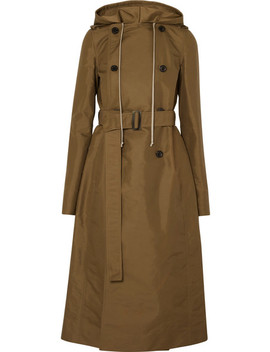 Hooded Shell Trench Coat by Rick Owens