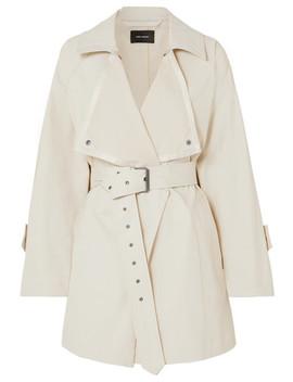 Jamelo Belted Cotton Blend Gabardine Trench Coat by Isabel Marant