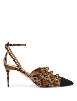 Mondaine 85 Leopard Print Pumps by Matches Fashion