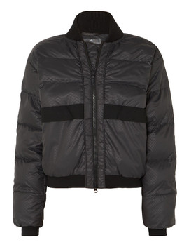 Snake Print Quilted Shell Jacket by Adidas By Stella Mc Cartney