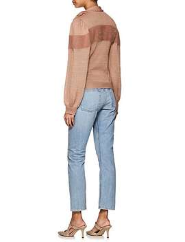 Fabia Cashmere Blend Tieneck Sweater by Ulla Johnson