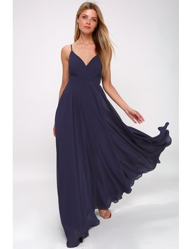 All About Love Navy Blue Maxi Dress by Lulus