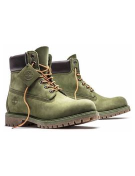 Timberland Men's Premium 6 Inch Classic Leather Boots Medium / Olive Green A1 M72 by Timberland