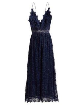 Castile Antique Lace Trimmed Silk Jumpsuit by Matches Fashion