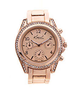 Women's Rose Gold Chrono Dial Watch by Kim Rogers