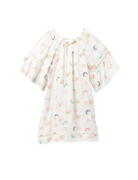 Ruffled Peasant Dress (Little Girls) by Jessica Simpson