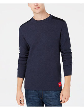 Men's Waffle Knit Sweater by Calvin Klein Jeans