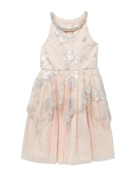 Sequin Peplum Social Dress (Little Girls) by Iris & Ivy