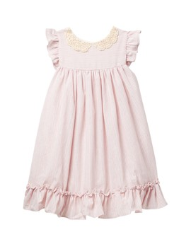 Ruffled Striped Dress (Toddler & Little Girls) by Laura Ashley