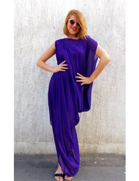 Purple Maxi Dress, Party Maxi Kaftan, Plus Size Maxi Dress Tdk67 By Teyxo, Asymmetrical Kaftan by Etsy
