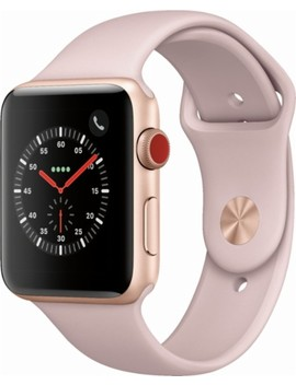 Apple Watch Series 3 (Gps + Cellular) 42mm Gold Aluminum Case With Pink Sand Sport Band   Gold Aluminum (Verizon) by Apple