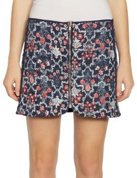Marily Reversible Floral Quilted Zip Linen Mini Skirt by Isabel Marant Etoile