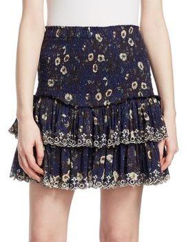 Naomi Floral Flounce Mini Skirt by Isabel Marant Etoile