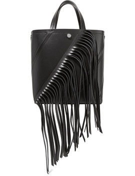 Hex Small Fringed Paneled Leather Tote by Proenza Schouler