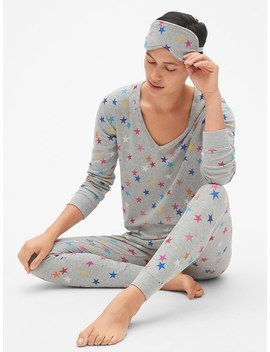 Ribbed Pj Set With Eye Mask by Gap