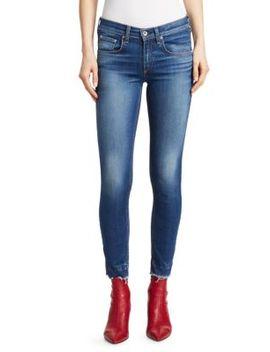 Raw Hem Skinny Ankle Jeans by Rag & Bone