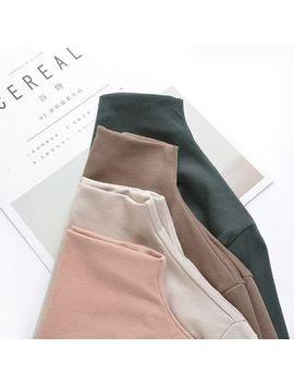 Fairy Essential   Plain Mock Turtleneck Long Sleeve T Shirt by Fairy Essential