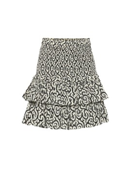 Printed Cotton Miniskirt by Isabel Marant, Étoile