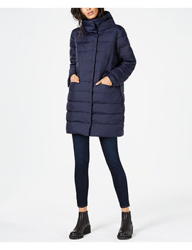Recycled Nylon Cocoon Puffer Coat by Eileen Fisher