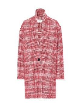 Ebrie Checked Wool Blend Coat by Isabel Marant, Étoile