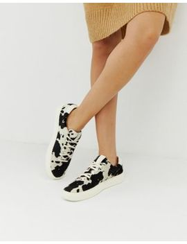 Polo Ralph Lauren Lace Up Sneaker In Animal Print by Polo Ralph Lauren
