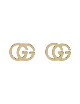 Gold Gg Tissue Studs by Gucci