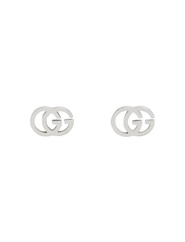 Silver Gg Tissue Stud Earrings by Gucci